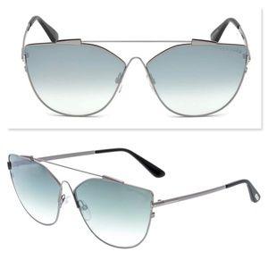 New TOM FORD Jacquelyn Cat Eye Oversize Sunglasses
